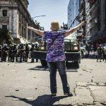 Relato de un día de furia y represión