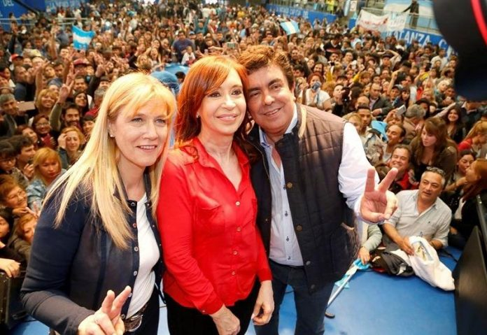 Verónica Magario, Cristina Kirchner y Fernando Espinoza
