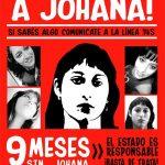 9 meses de impunidad: Devuelvan a Johana.