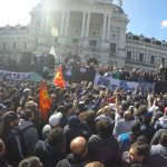 Continúa la movilización y acampe de trabajadores del Astillero Río Santiago