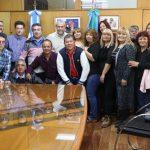 Ferraresi recibió a trabajadores municipales de una agrupación del STMA